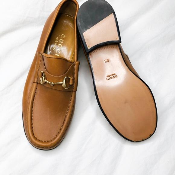 Gucci Tan Classic Horsebit Leather